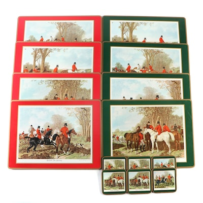 "Pimpernel ""English Fox Hunting"" Cork Backed Placemats and Coasters"