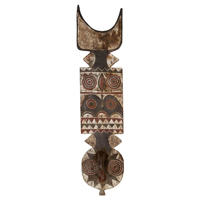 "Bwa ""Nwantantay"" Polychrome Wooden Mask, West Africa, 20th Century"