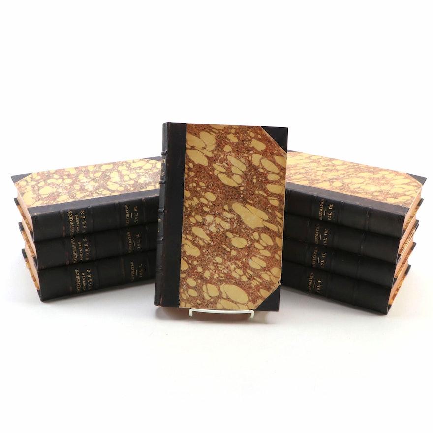 "Illustrated ""The Dramatic Works of William Shakspeare"" Eight-Volume Set, 1851"