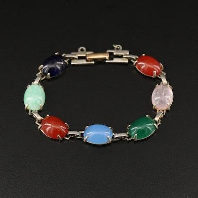 Vintage Glass Link Bracelet