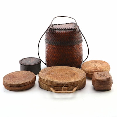 Woven Baskets and Flat Boxes