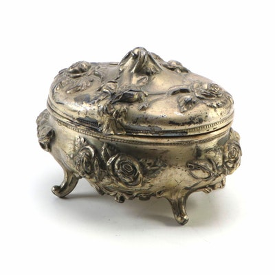 N.B. Rogers Gilt Jewelry Casket, Late 19th/Early 20th C.