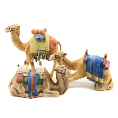 Goebel Bisque Porcelain Nativity Scene Camel Figurines