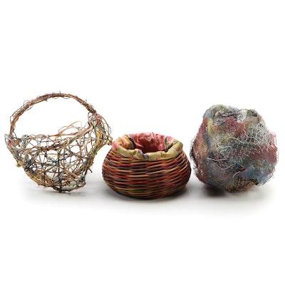 Mixed Media Decorative Woven Baskets