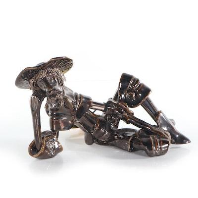 Roberto Nischli Stoneware Sculpture of Don Quixote, 1983