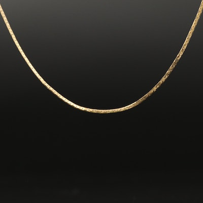 14K C-Link Chain Necklace