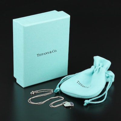 "Tiffany & Co. ""Return to Tiffany"" Sterling Silver Double Heart Tag Necklace"