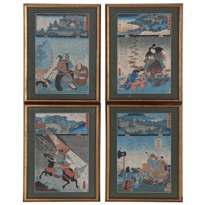 "Woodblocks after Kunisada I and Hiroshige II ""Miracles of Kannon,"" 19th Century"