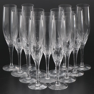 "Orrefors ""Prelude"" Crystal Champagne Flutes"