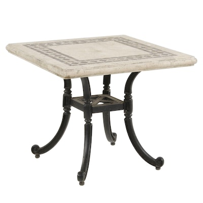 Frontgate Tile Topped Table with Cast Iron Base