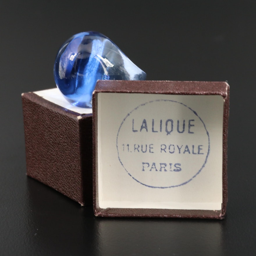 Lalique Glass Dome Ring