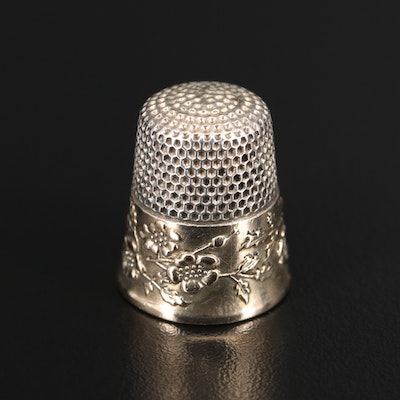 Ketcham and McDougall Sterling Silver Thimble, Late 19th/ Early 20th Century