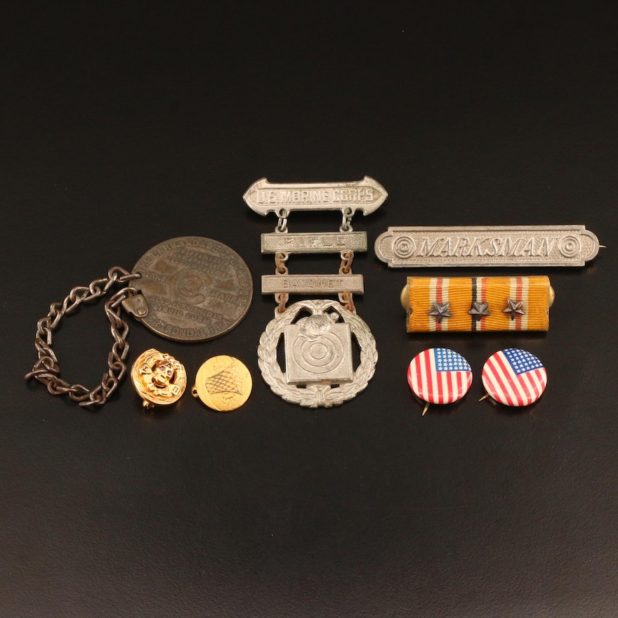 Vintage Military and Emblematic Medals