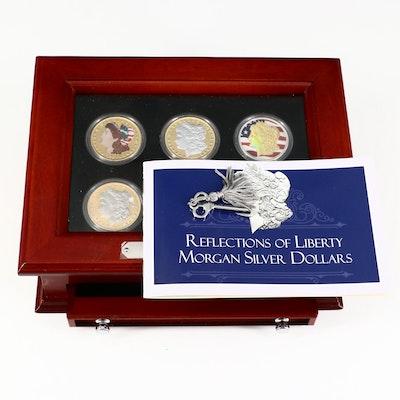 """Reflections of Liberty"" Colorized Morgan Silver Dollar Set"