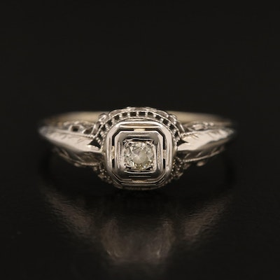 Edwardian 18K Diamond Ring