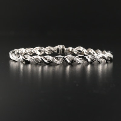 14K Diamond Twist Bracelet