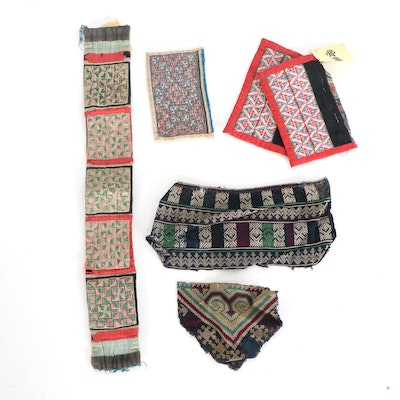 Southeast Asian Hmong Paj Ntaub and Miao Embroidery Pieces, Early 20th Century