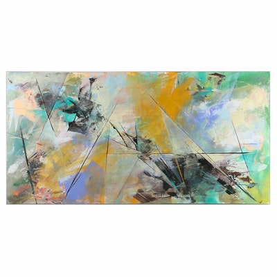 Farshad Lanjani Abstract Expressionist Acrylic Painting