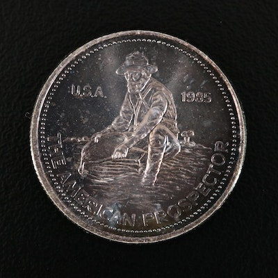 Toned Engelhard 1/4 Troy Ounce .999 Silver American Prospector Round