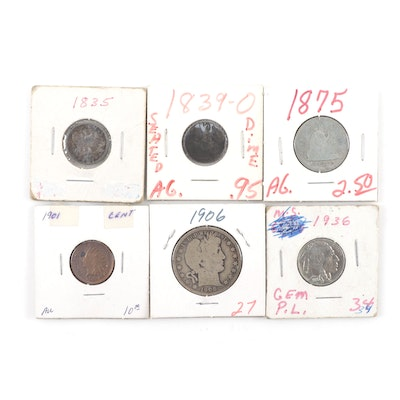 Assortment of Antique U.S. Coins, Including Silver