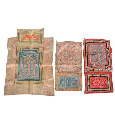Southeast Asian Hmong Paj Ntaub Embroidered Baby Carrier Cloths