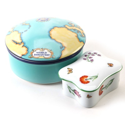"Tiffany & Co. ""World Discovery"" and Le Seynie for Tiffany & Co. Trinket Boxes"