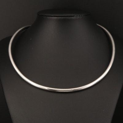 Modern Sterling Silver Torc