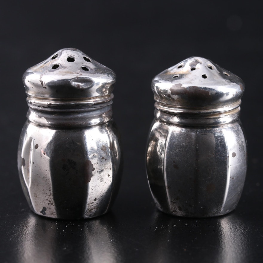 V. Lollo Sterling Silver Salt and Pepper Shakers