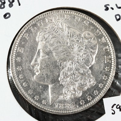 Better Date 1881-O Uncirculated Morgan Silver Dollar
