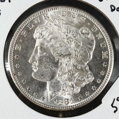 1881-S Uncirculated Morgan Silver Dollar
