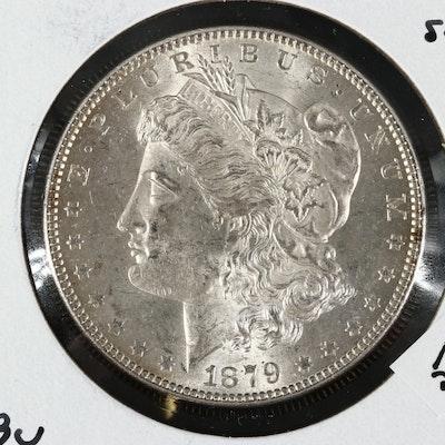 Uncirculated 1879 Morgan Silver Dollar