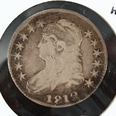 1812 Capped Bust Silver Half Dollar, Lettered Edge