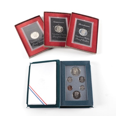 Eisenhower Proof Silver Dollars and Prestige Coin Set