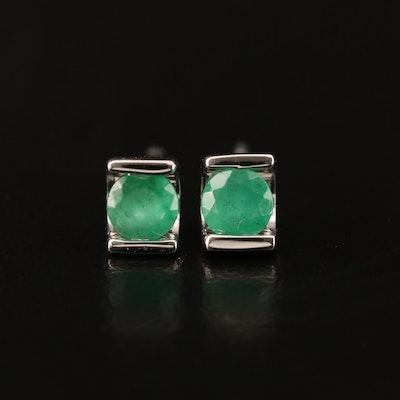 10K Emerald Stud Earrings