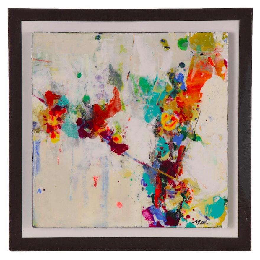 "Mark Whitmarsh Acrylic Painting ""Divine Garden #159,"" 2019"