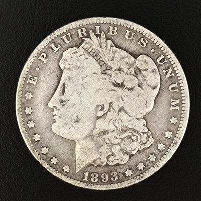 Key Date Low Mintage 1893-O Morgan Silver Dollar