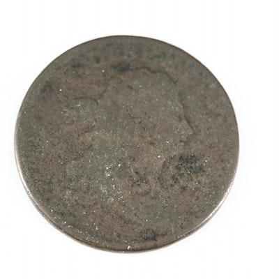 "1805 Draped Bust ""Large 5"" Half Cent"