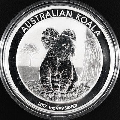 2017 Australian 1 Oz .999 Fine Silver Koala Dollar