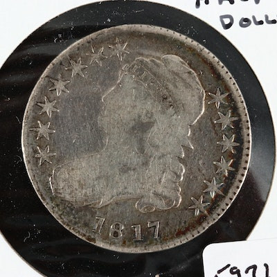 1817 Capped Bust Silver Half Dollar, Lettered Edge