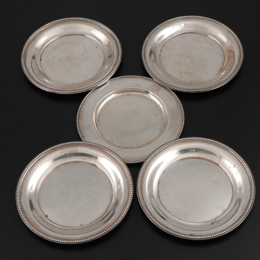 Wallace and Gorham Sterling Silver Bread and Butter Plates, Early 20th C.
