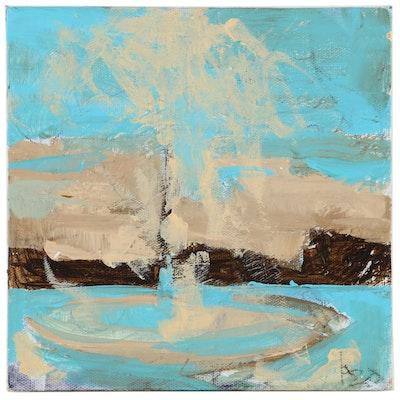 "Patrick McCafferty Oil Painting ""The Pony,"" 2020"