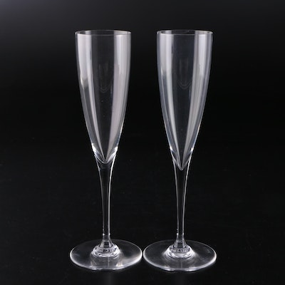 "Baccarat ""Dom Perignon"" Crystal Champagne Flutes, 1960s"