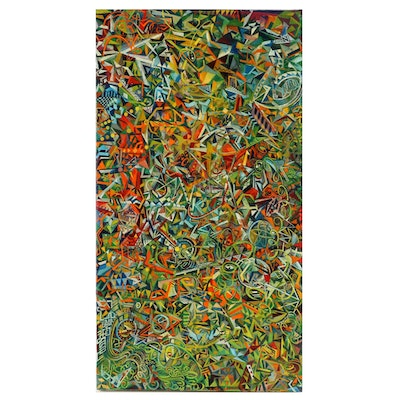 """Ryder Henry Oil Painting """"Noise #14,"""" 2020"""