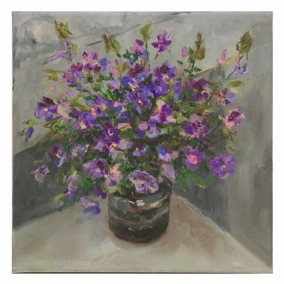 Garncarek Aleksander Floral Oil Painting