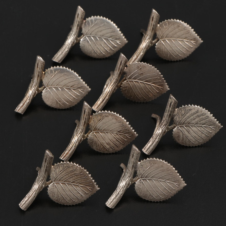 Tiffany & Co. Sterling Silver Leaf-Shaped Place Card Holders