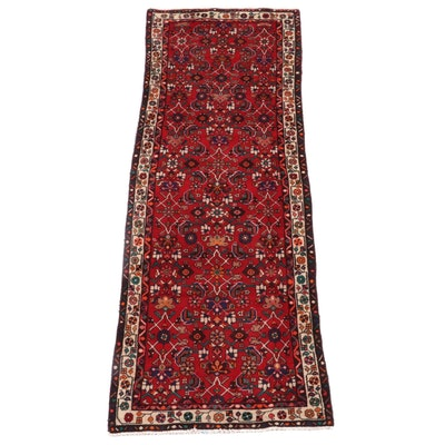 3'6 x 9'10 Hand-Knotted Persian Hamadan Wool Long Rug