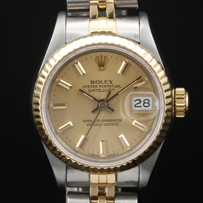 1984 Rolex Datejust 18K Gold and Stainless Steel Automatic Wristwatch