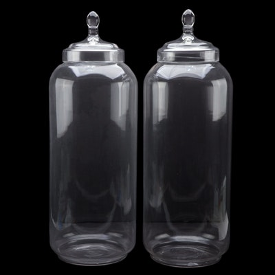 Barreveld International Design Glass Tall Apothecary Style Display Jars