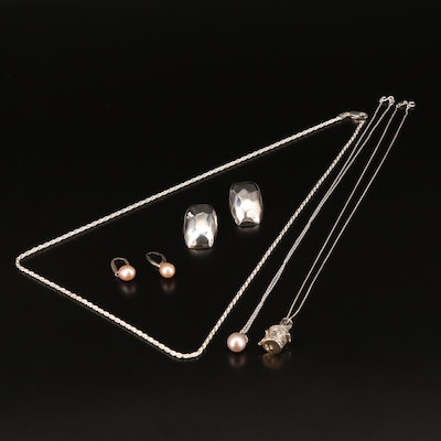 Sterling Silver Jewelry Selection Featuring Pearls