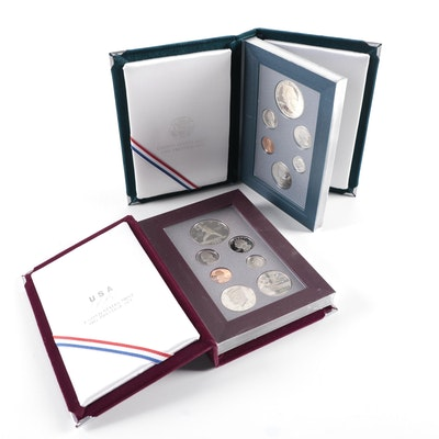 1990 and 1992 US Mint Prestige Coin Sets